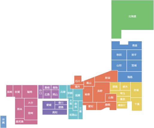 日本地図マップ